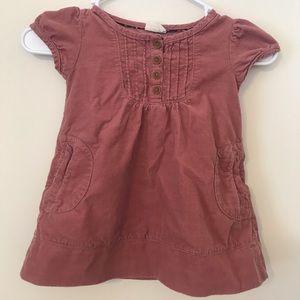 Mini Boden Pink Corduroy Dress